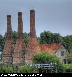Photo of kiln chimneys