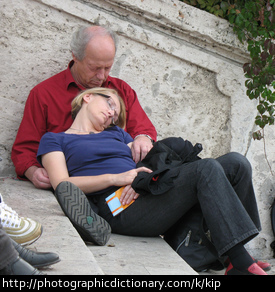 Photo of two people napping