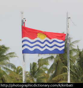 The flag of Kiribati.