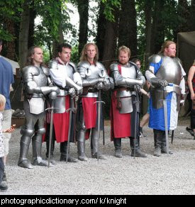 Photo of knights in armour