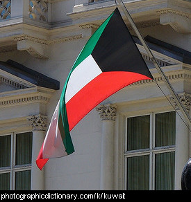 Photo of the Kuwaiti flag