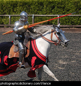 Photo of a knight wielding a lance
