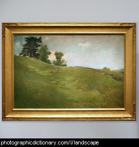 Photo of a landscape painting