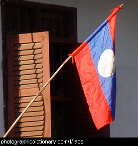 Photo of the Laos flag