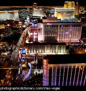 Photo of Las Vegas at night