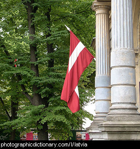 Photo of the Latvian flag