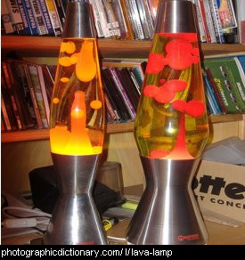 Photo of a lava lamp