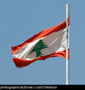 Photo of the Lebanese flag