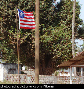 Photo of the Liberian flag