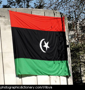 Photo of the Libyan flag
