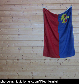 Photo of the Liechtenstein flag