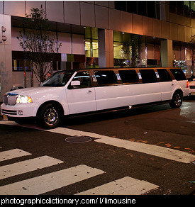 Photo of a limousine