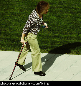 Photo of a woman limping