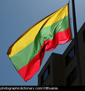 Photo of the Lithuanian flag