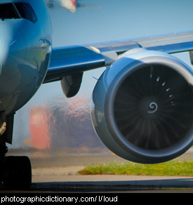 Photo of a jet engine