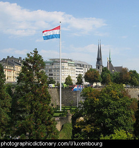 Photo of the Luxembourg flag