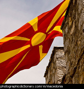 Photo of the Macedonian flag