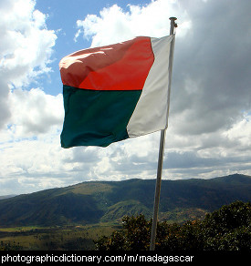 Photo of the Madagascar flag