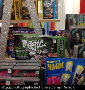 Photo of magic kits in a toy store
