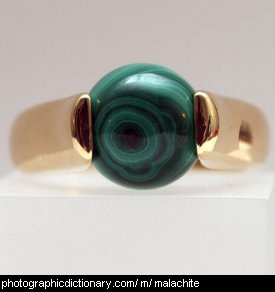 Photo of a malachite ring