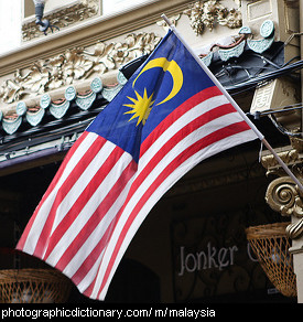 Photo of the Malaysian flag