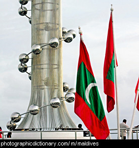 Photo of the Maldives flag