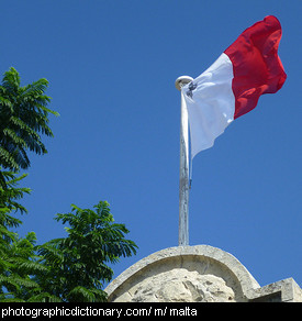 Photo of the Maltese flag