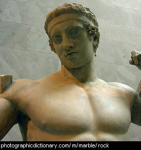 Photo of a marble statue