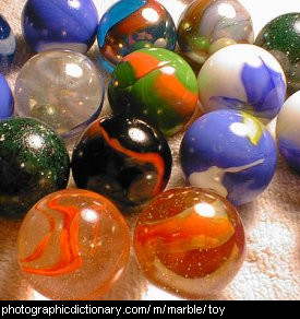 Photo of some marbles