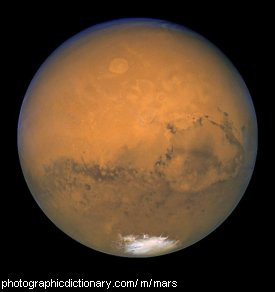 Photo of the planet Mars