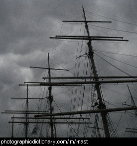 Photo of masts on a ship