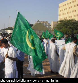 Photo of the Mauritanian flag