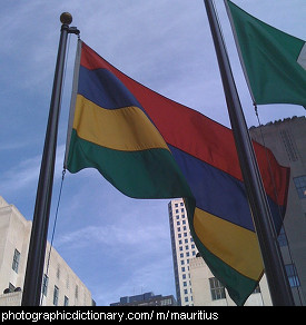 Photo of the Mauritius flag