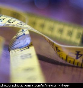 Photo of a measuring tape
