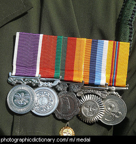 Photo of some medals