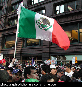 Photo of the Mexican flag