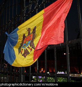 Photo of the Moldovan flag