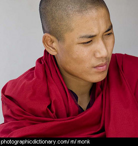 Photo of a Buddhist monk