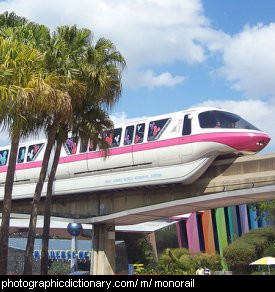 Photo of a monorail