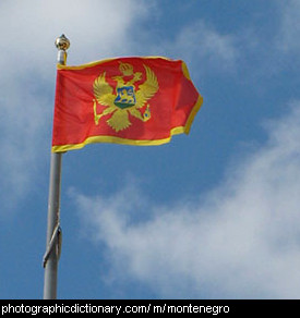 Photo of the Montenegrin flag