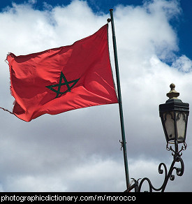 Photo of the Moroccan flag