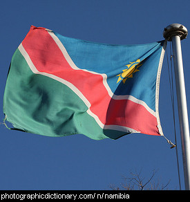 Photo of the Namibian flag