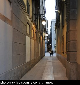 Photo of a narrow street