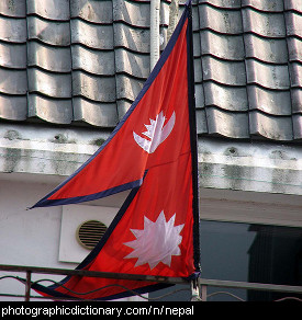 Photo of the Nepal flag