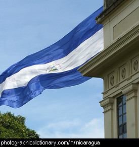 Photo of the Nicaraguan flag