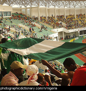 Photo of the Nigerian flag