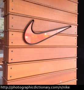 Photo of the Nike swoosh