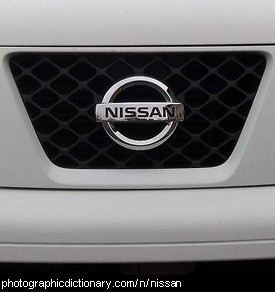 Photo of a Nissan badge