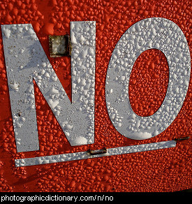 Photo of a sign that says no