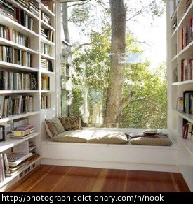 Photo of a reading nook